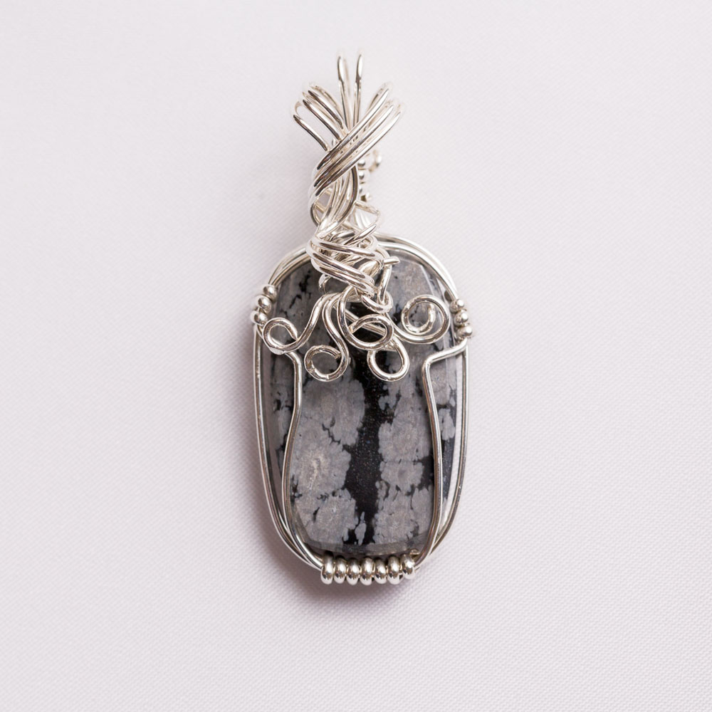 Craftsman created sterling silver wire wrapped pendant | Jewelry by ...