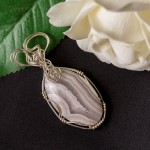 Banded Agate Cabochon Pendant